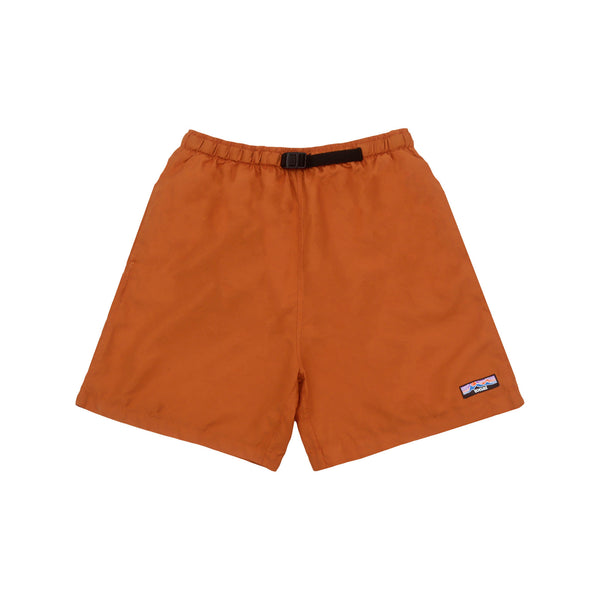 NYLON OVERDYED SHORTS RUST ORANGE