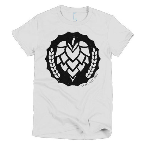 HOP BADGE Women's Crew Neck T-Shirt (Sale) - Craft Beer Babes