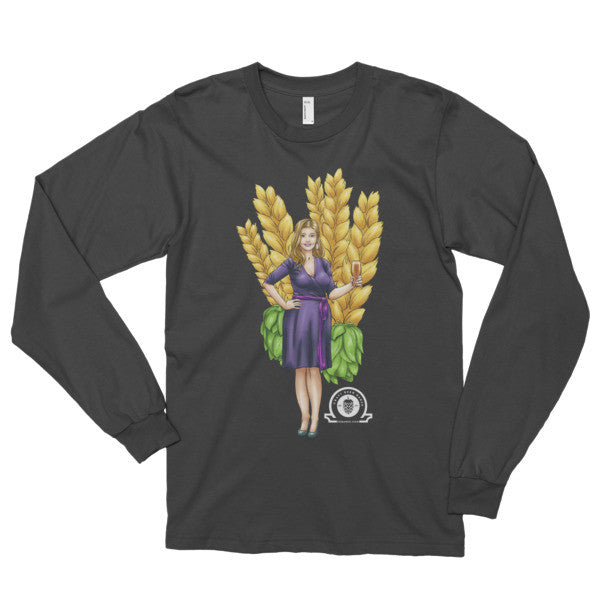 Alex IPA Glass Girl Long sleeve t-shirt - Craft Beer Babes - 1