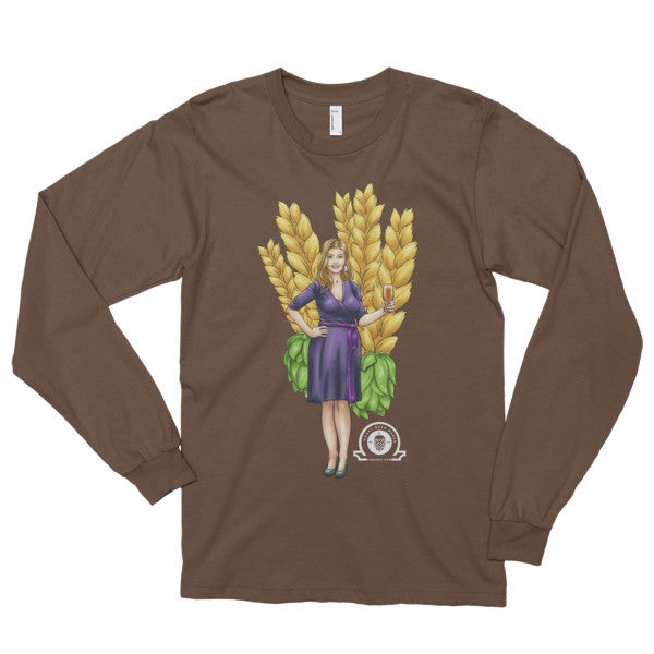 Alex IPA Glass Girl Long sleeve t-shirt - Craft Beer Babes - 3