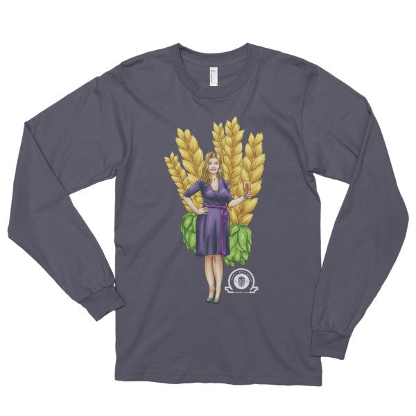 Alex IPA Glass Girl Long sleeve t-shirt - Craft Beer Babes - 2