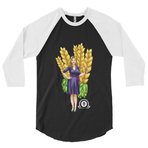 ALEX 3/4 sleeve raglan shirt - Craft Beer Babes - 1
