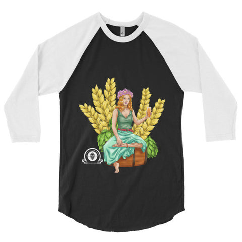AUTUMN 3/4 sleeve raglan shirt - Craft Beer Babes - 1