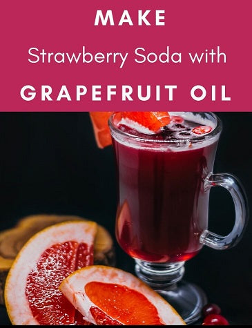 Energizing Soda Drink with Organic Grapefruit Essential Oil