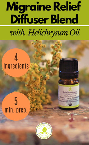 helichrysum oil diffuser blend for migraine relief