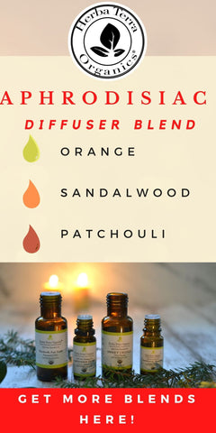 aphrodisiac diffuser blend with essential oils