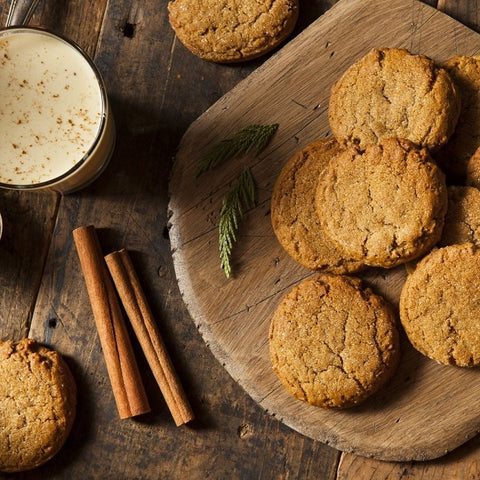 Gluten-Free Pumpkin Gingerbread Cookies with Ginger and Cinnamon Oils