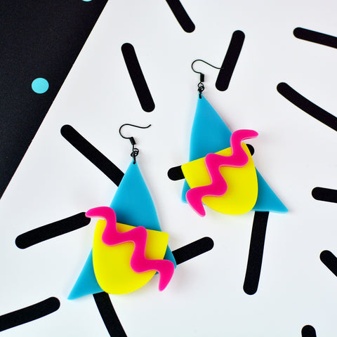 Memphis 80s Style Statement Earrings