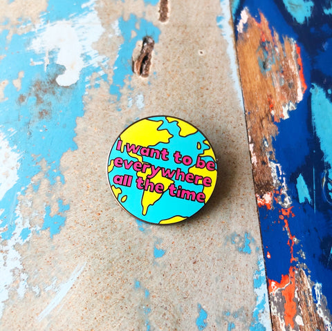 Travel Lovers Enamel Pin