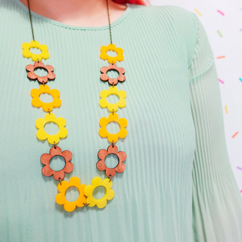 Flower Power Statement Necklace