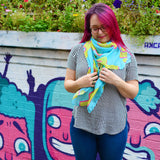 Cactus Scarf - Large Super Soft Rainbow Shawl For Beach Wear