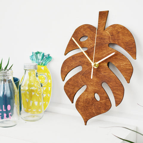Monstera Leaf Clock | Cheese Plant Wall Clock | Plant Lady Decor Homewares
