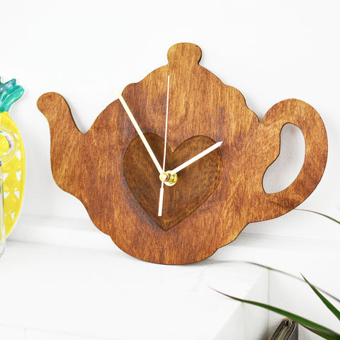 Teapot Clock | Tea Lover Wall Clock | Kitchen Decor Homewares