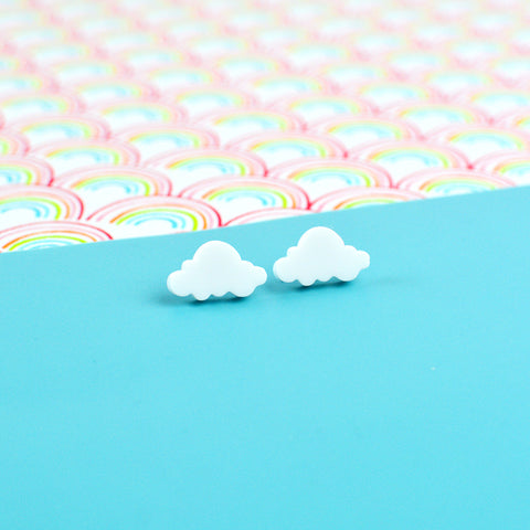 Free Cloud Stud Earrings