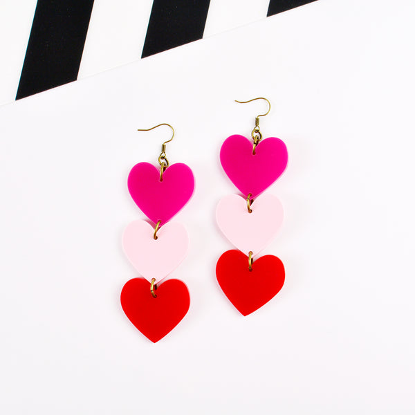 Heart Chain Statement Earrings