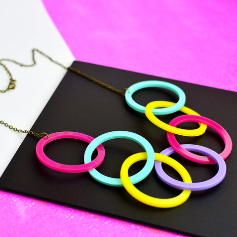 Infinity Hoop Statement Necklace