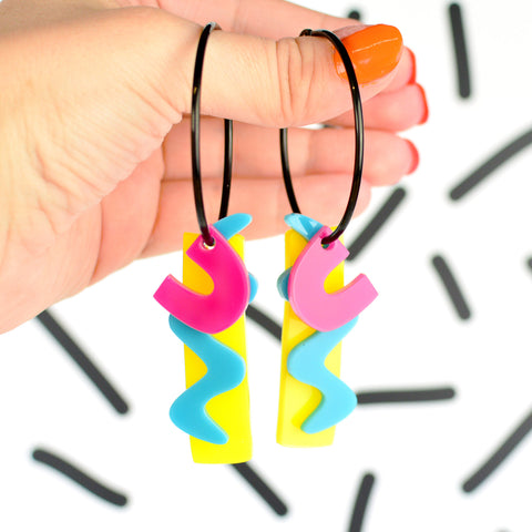 80s Hoop Statement Earrings