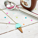 Mint Ice Cream Necklace | Summer Jewellery - Onetenzeroseven - 1