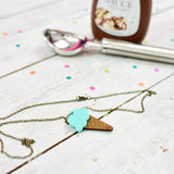 Mint Ice Cream Necklace | Summer Jewellery - Onetenzeroseven - 2