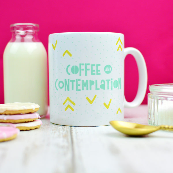 Coffee Mug For Mornings At Work | Coffee and Contemplation Housewarming Gift | Homewares