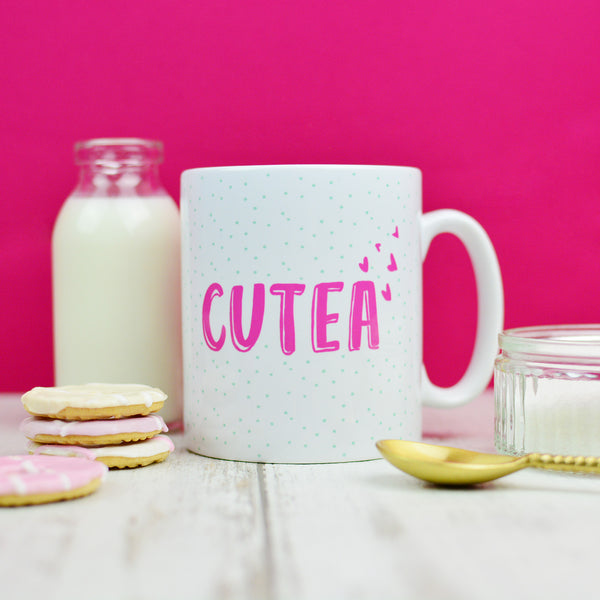 Tea Mug Gift For Her | Cutea Pink Mug Housewarming Gift | Homewares