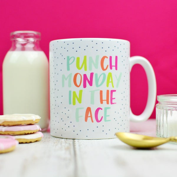 Mug For Work | Punch Monday In The Face | Motivational Mug | Homewares