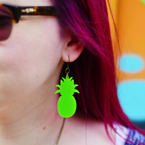 Pineapple Statement Dangle Earrings