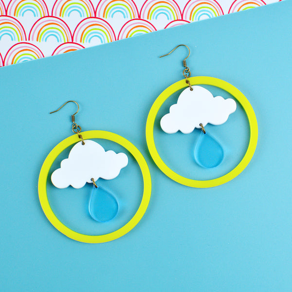 Raindrop Weather Statement Earrings
