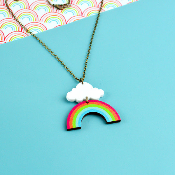 Rainbow Cloud Necklace