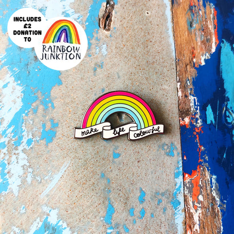 Rainbow Enamel Pin - with Donation