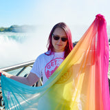 Rainbow Scarf - Large Super Soft Shawl For Beach Wear