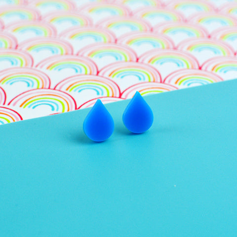 Raindrop Stud Earrings