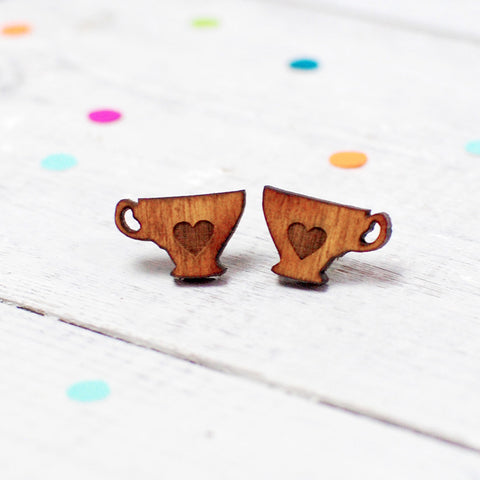 Mini Tea Lover Earrings | Tea Cup Earrings | Tea Jewellery - Onetenzeroseven - 1