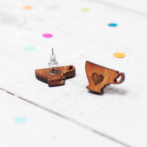 Mini Tea Lover Earrings | Tea Cup Earrings | Tea Jewellery - Onetenzeroseven - 2
