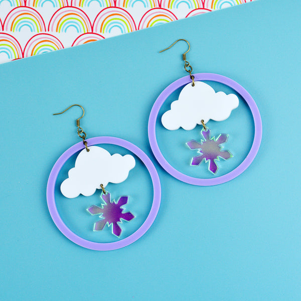 Snowflake Weather Statement Earrings