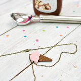 Strawberry Ice Cream Necklace | Summer Jewellery - Onetenzeroseven - 2