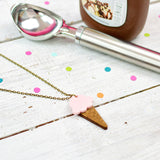 Strawberry Ice Cream Necklace | Summer Jewellery - Onetenzeroseven - 1