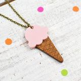 Strawberry Ice Cream Necklace | Summer Jewellery - Onetenzeroseven - 3