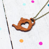 Tea Pot Necklace | Tea Jewellery | Gifts For Tea Lovers - Onetenzeroseven - 1
