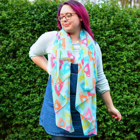 Tea Scarf - Large Super Soft Rainbow Shawl For Beach Wear