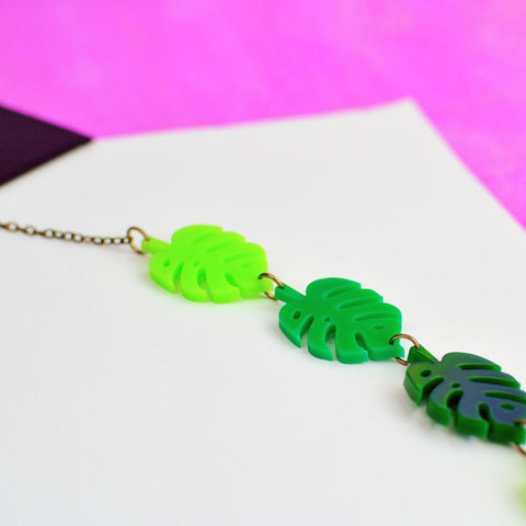Monstera Chain Necklace