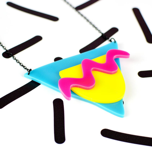 Memphis 80s Style Statement Necklace