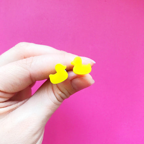 Rubber Duck Earrings | Handmade Jewellery