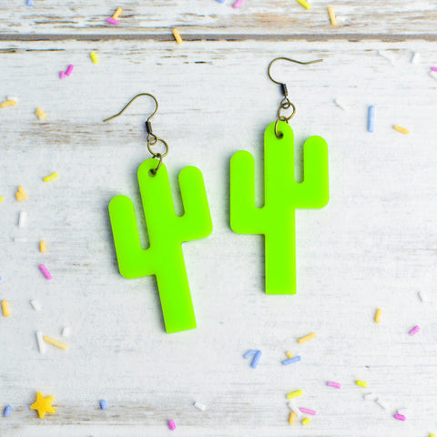 Cactus Statement Earrings Dangle