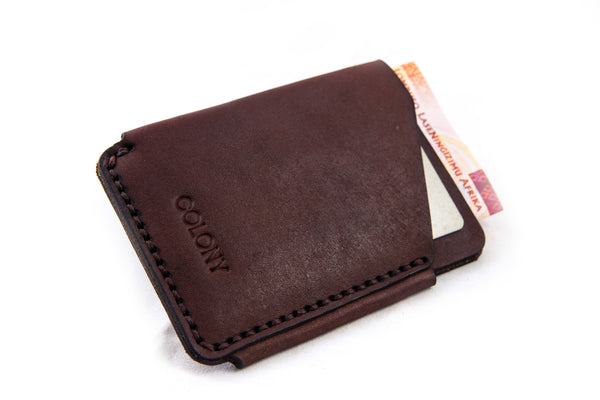 Slide Wallet / Dark-Brown