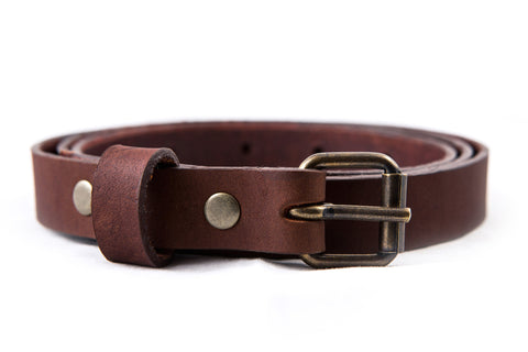 Skinny Belt / Dark-Brown