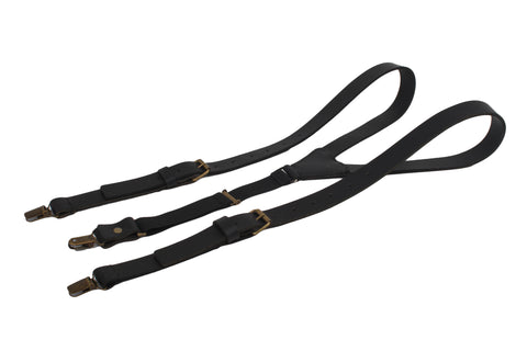 Leather Suspenders / Black