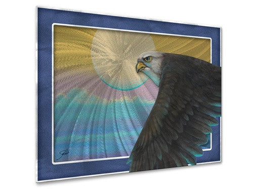 Emerals Falcon - Metal Wall Art Decor - Joe Sambataro