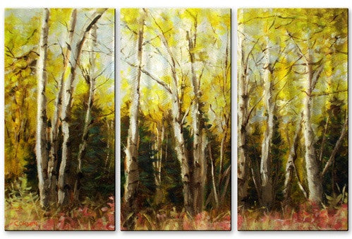Alaskan Birch - Metal Wall Art Decor - James Corwin