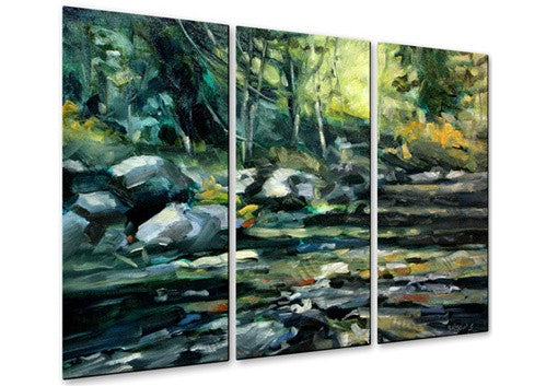 Afternoon River Contemporary Modern Metal Wall Art By Brian Simons